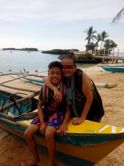 Kirk and Mama Eting at Boracay Beach