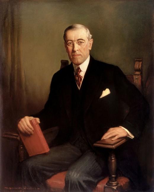 Woodrow Wilson By Frank Graham Coates Public Domain
