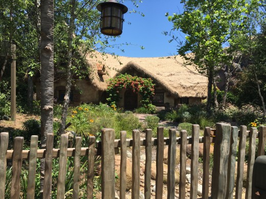 The cottage from Snow White at the Seven Dwarfs Mine Train.