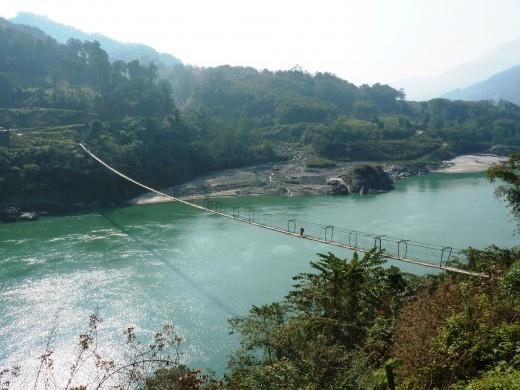 View of Gandhi Bridge in Jenging, Arunachal Pradesh