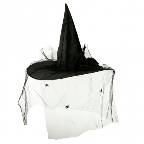 This Velvet Satin Witch Hat with a Black Spider Veil is perfect if you're wearing a traditional witch costume