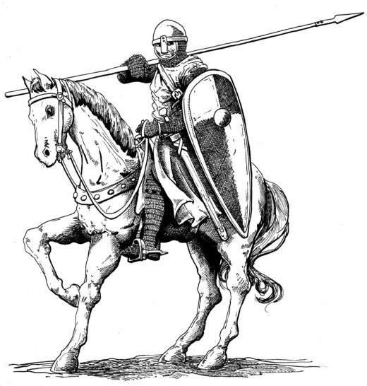 Mounted Norman knight in Ireland (pictishscout)