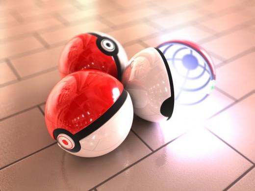 Metallic Pokeball Replica 3D Render