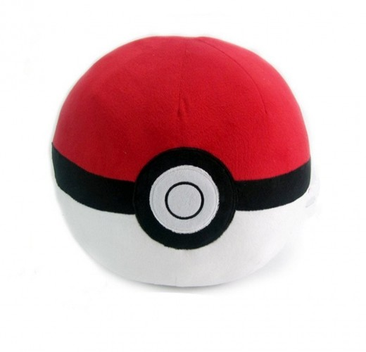 Poke Ball Plush Stuffed Toy Pillow