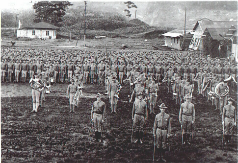 A Marine formation in Panama between 1908-1914.