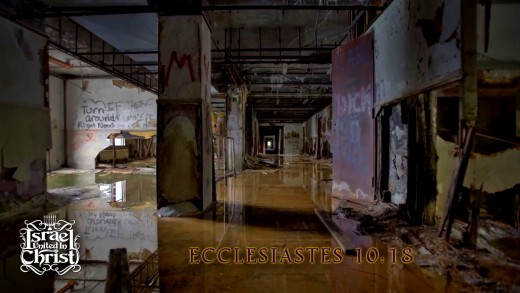 Ecclesiastes 10:18 KJV  By much slothfulness the building decayeth