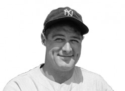 Baseball  legend, Lou Gehrig