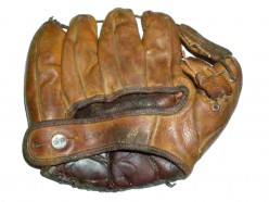 A well-worn fielder's glove