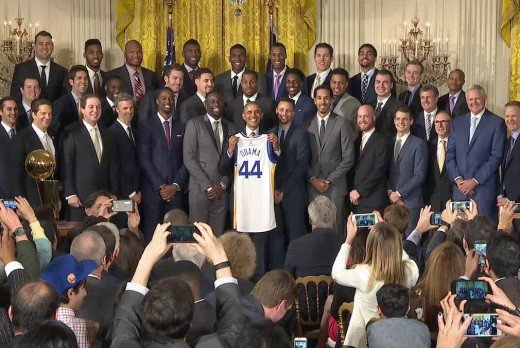 The Golden State Warriors at the White House with President Obama
