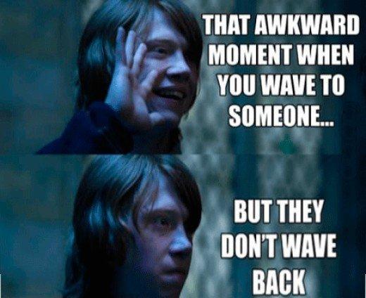 Truly awkward...and kinda embarrassing.
