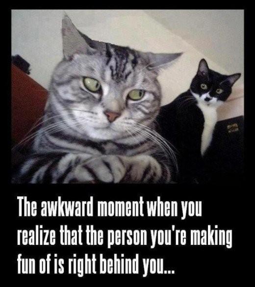 "Sh*t, Run! ...or have some ""Awkward Silence"" moment."