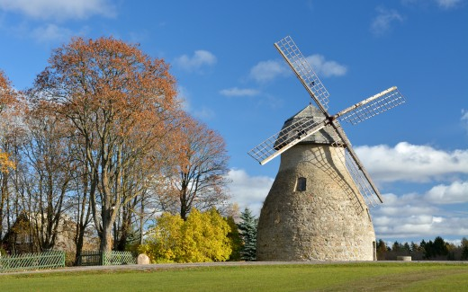 Aaspere manor windmill, built in 19. century, renovated in 1988.