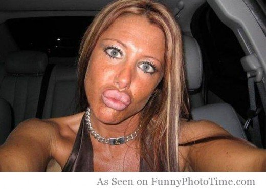 """Typical scenario; Duck face (because it's """"cool""""), car with leather interior (to give the illusion of having money), """"perfect"""" body, """"perfect"""" hair, great makeup - she must be """"all that,"""" right?"""
