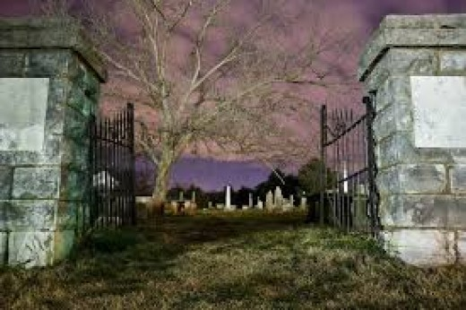 Tour guides take visitors on haunted excursions that include old haunted houses, buildings and cemeteries where the restless spirits of the long deceased are said to be present.