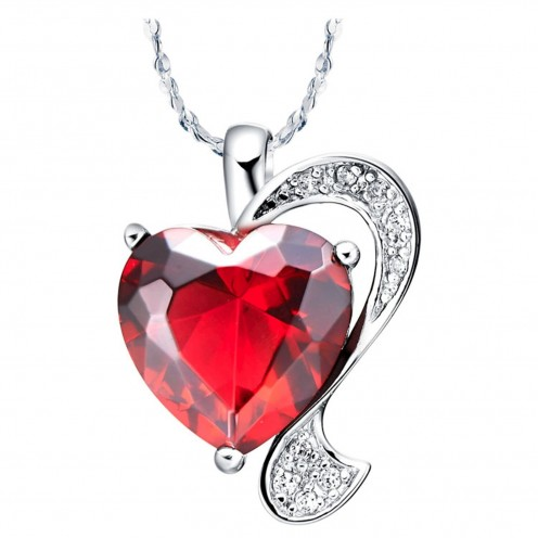 Consider choosing a heart-shaped necklace as your lover's Valentine's Day gift