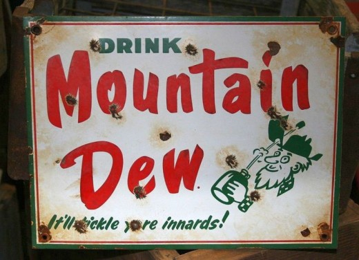 Original Mountain Dew sign
