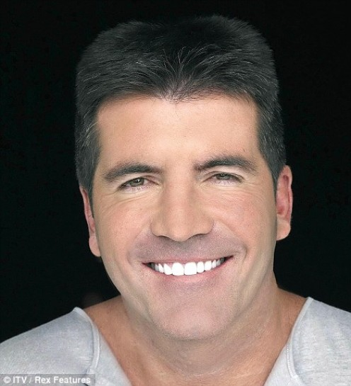 Simon Cowell has worked to improve on his smile