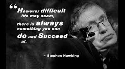 Stephen Hawking is a cosmologist, theoretical physicist, author and he also works at the University of Cambridge among many other activities he pursues.