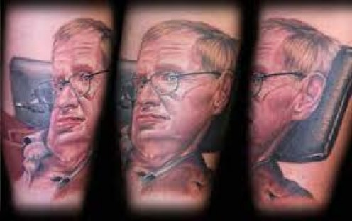 This person really loves Stephen Hawking. So much so that they got him inked on their body. A tattoo version of the Cosmos master, how cool?!