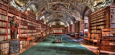 Some libraries are as luxurious as office buildings