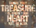 Where Your Heart Is, So Is Your Treasure?