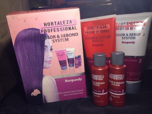 HBC Hair Color and Rebond System (Burgundy)