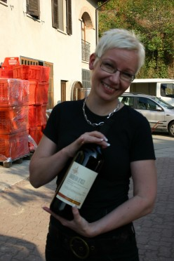 A wine lover at Cascina Roera, Monferrato, Italy