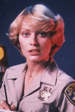 "The pretty Randi Oakes was cast as ""Officer Bonnie Clark"""