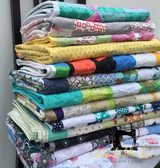 Stash Builder Box donated quilts to Mission Fiji in May. The quilts are efforts of volunteers plus the owner, Amanda Kelly, to make a finish.