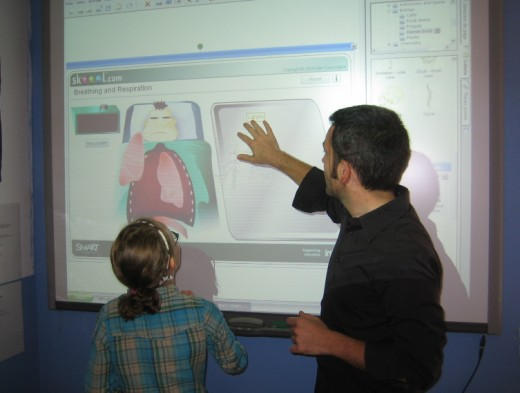 An interactive smartboard