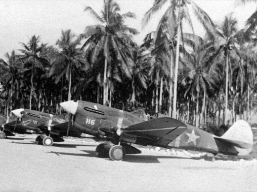 P40s at Guadalcanal in 1943