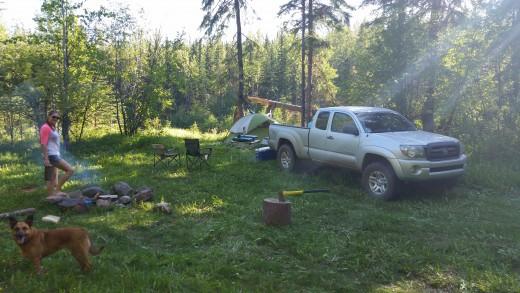 Our campsite at Carbon Creek