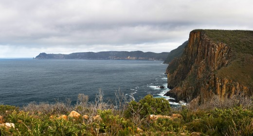 Cape Pillar as seen from the Cape Hauy track. Tasmania, Australia.