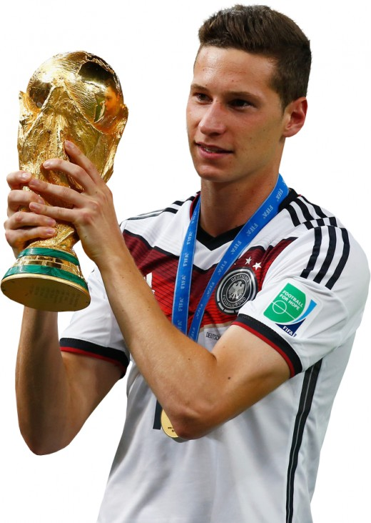 Julian holds the 2014 World cup as a champion.