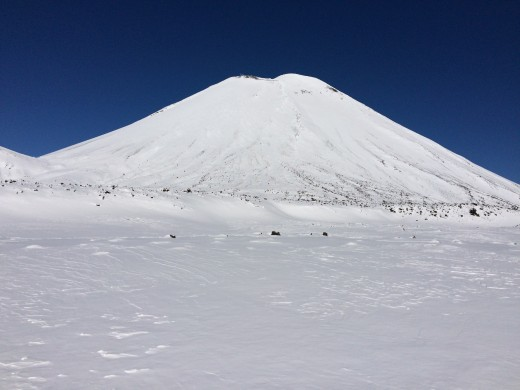 A snow covered Mt Doom (Tongariro National Park, North Island)