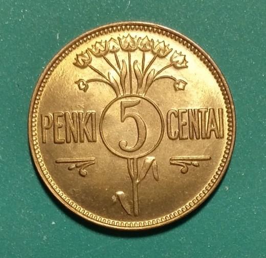 5 CentaiKM72Y21925Obv
