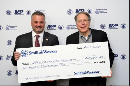 The head of Smith Wesson and Wayne Lapierre, the head of the NRA.