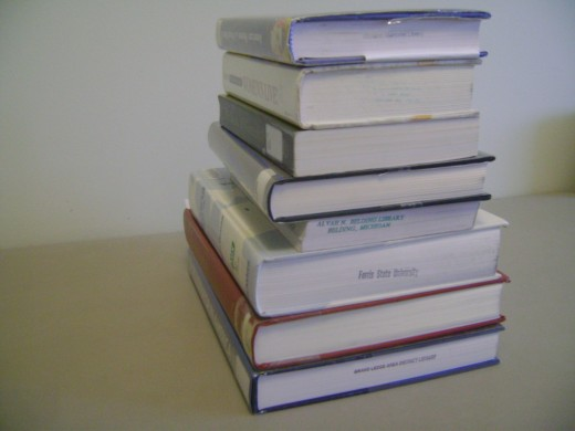 A Stack of Self-Help Books