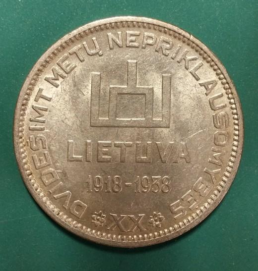10 Litu   KM84   Y14   1938   Rev