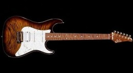 This puppy here is an example of very high end Super Strat guitars. This one will run you at least seven thousand dollars. And is worth it too.