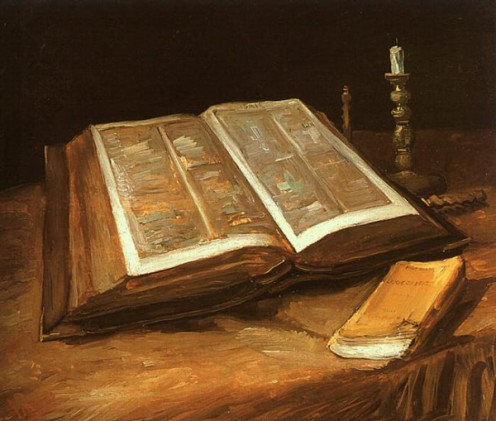 Still Life with Bible, Vincent Van Gogh (1853-1890)