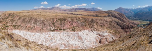 The salt is obtained in Maras since the Inca Empire times and the site is currently composed of around 3.000 ponds of 5 square metres (54 sq ft) each.