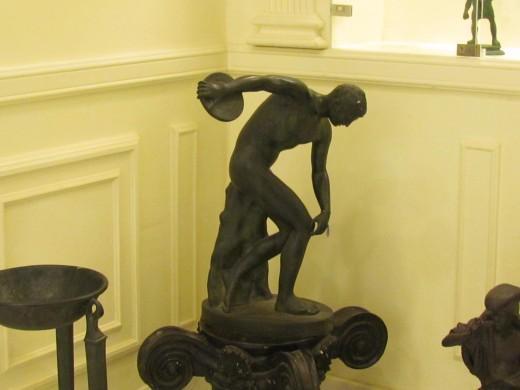 Another beautiful sculptured piece that was displayed in the museum before our tour of Pompeii Excavations.