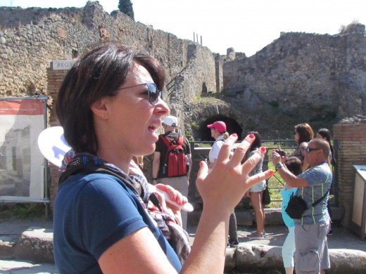 Adda, was our very knowledgeable tour guide for the Pompeii Excavations.