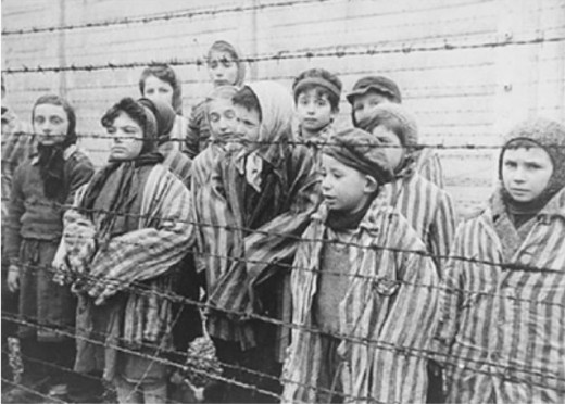 Kids in concentration camp during the reign of Hitler.