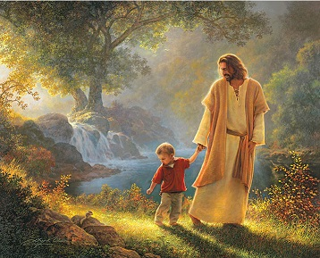 God walking with us.