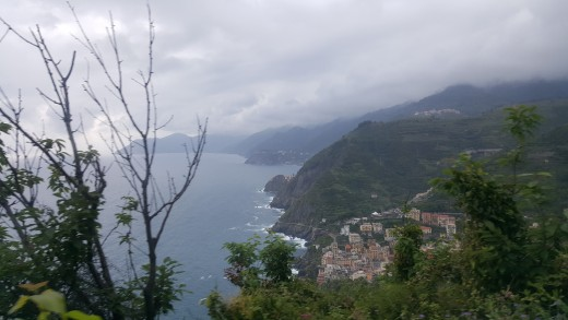 View from bus route from Volastra to Riomaggiore
