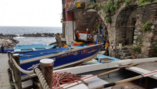 Riomaggiore  - Boat trips available to nearby shores