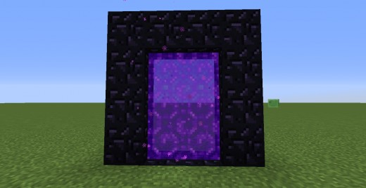 An activated Nether portal