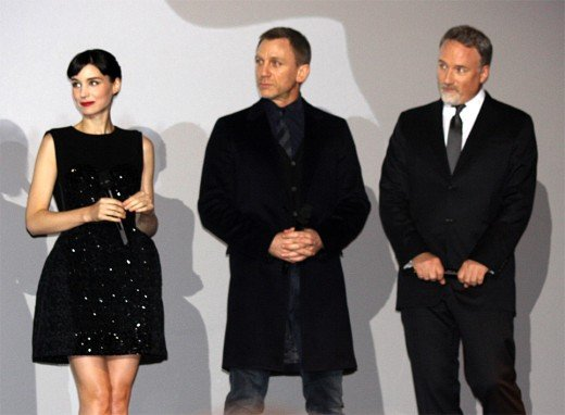 The Girl with the Dragon Tattoo (team) - Rooney Mara (far left), Daniel Craig (middle) and David Fincher (far right). Unfortunately, the 2011 remake did not wow at the box office making $232 million on a $90 million budget. Not bad. Not great.